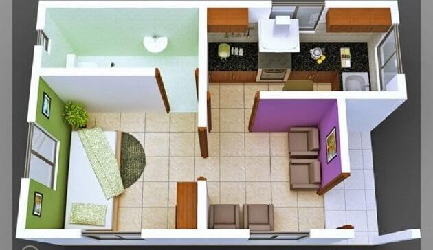 Plantas de casas com um quarto