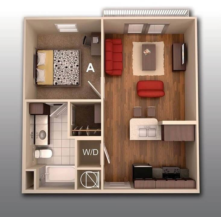 plantas de casas apartamento pequeno