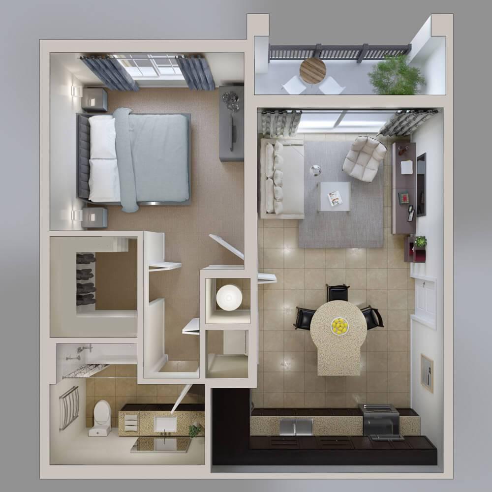 plantas de casas apartamento pequeno2