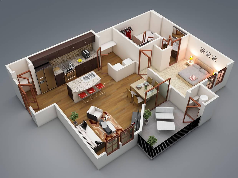 plantas de casas pequenas com suite
