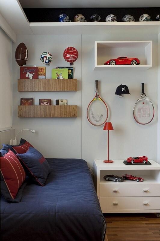 prateleira para quarto de menino raquetes ark2 arquitetura 78188