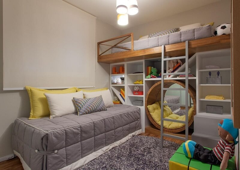 prateleiras para quarto de menino com nicho sesso e dalanezi 5074