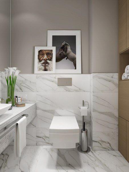 Reforma de banheiro mármore