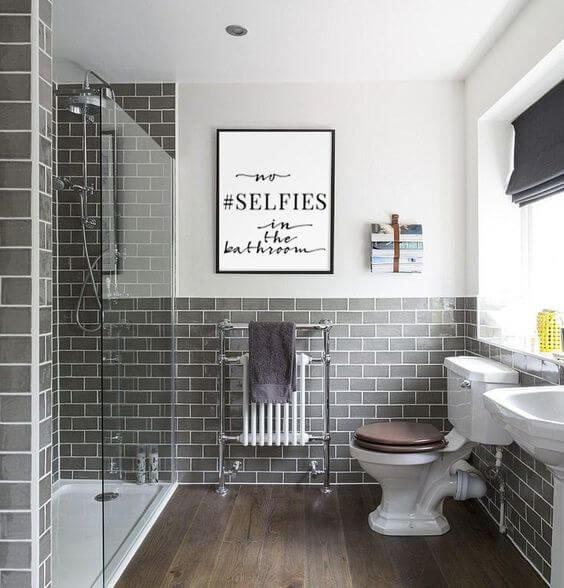 Use quadros para reforma de banheiro