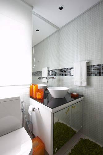 1706 reforma de banheiro com gabinete espelhado -leo shehtman