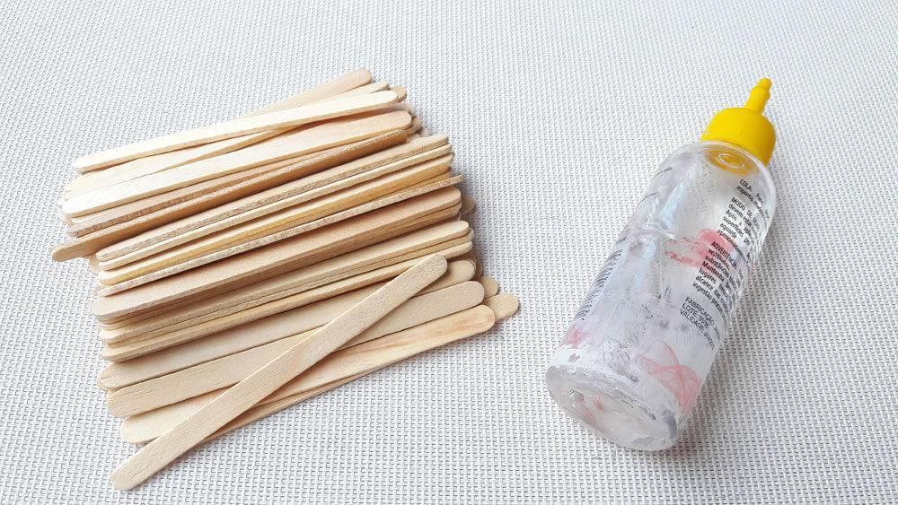 artesanato com palitos de sorvete materiais