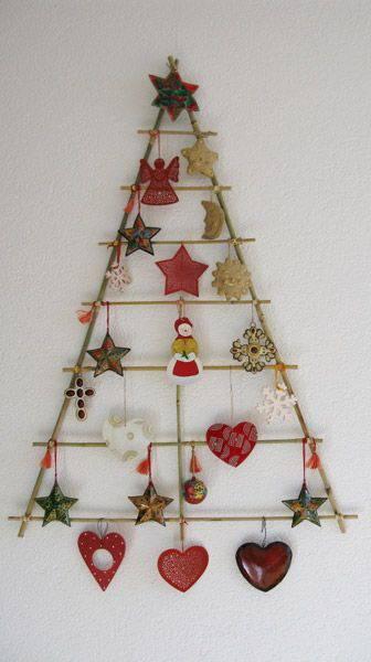 arvore de natal artesanal na parede
