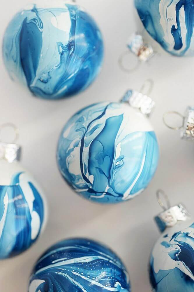 Blue balls for Christmas tree decoration
