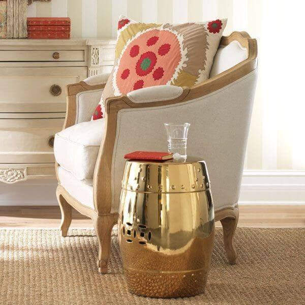 cantinho da leitura sala garden seat dourado
