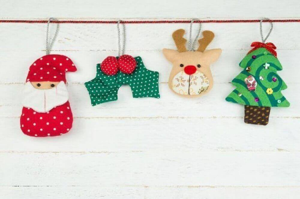 Decoration with Christmas decorations for walls