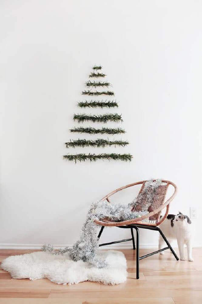 Scandinavian style decoration with Christmas wall decorations