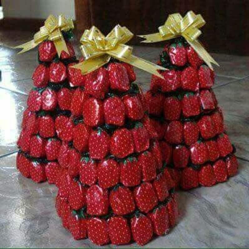 Enfeites de natal simples feito com balas