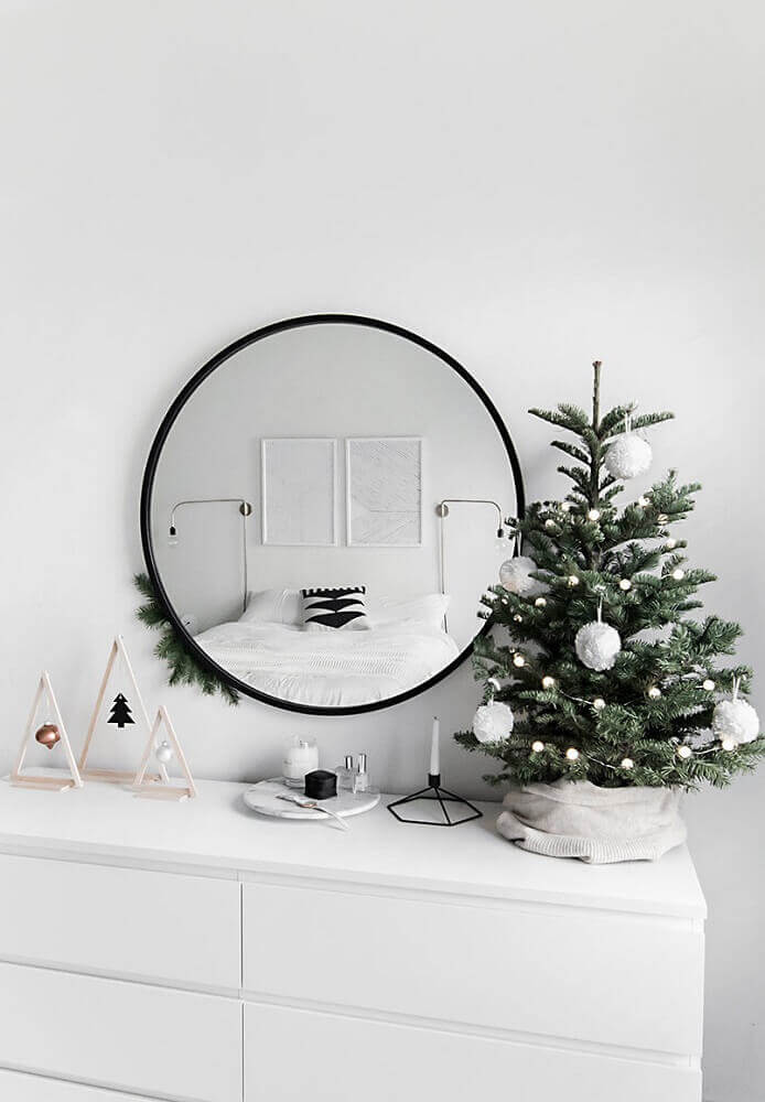 Scandinavian decoration with Christmas decorations