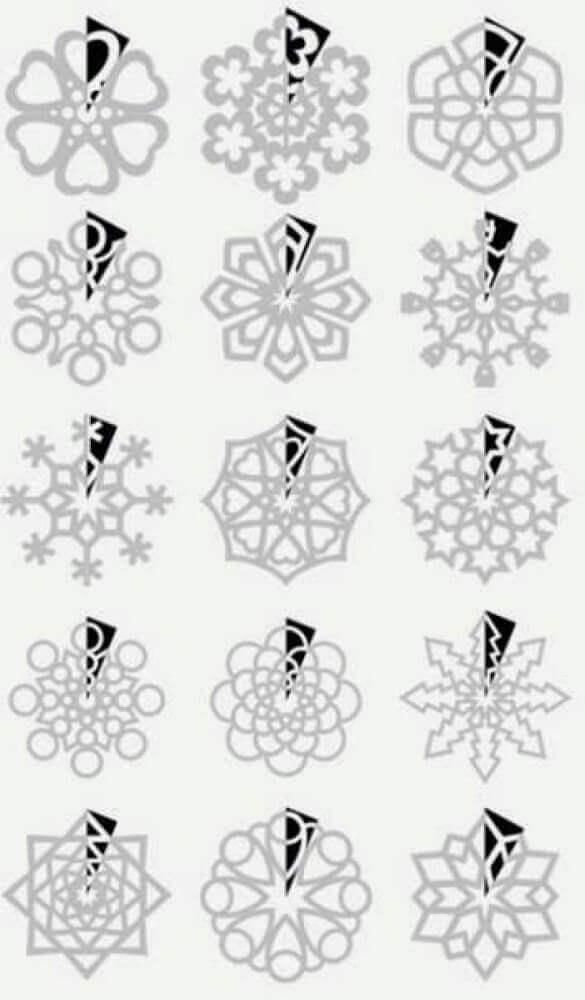 Mode de flocos de neve para fazer decoração de natal