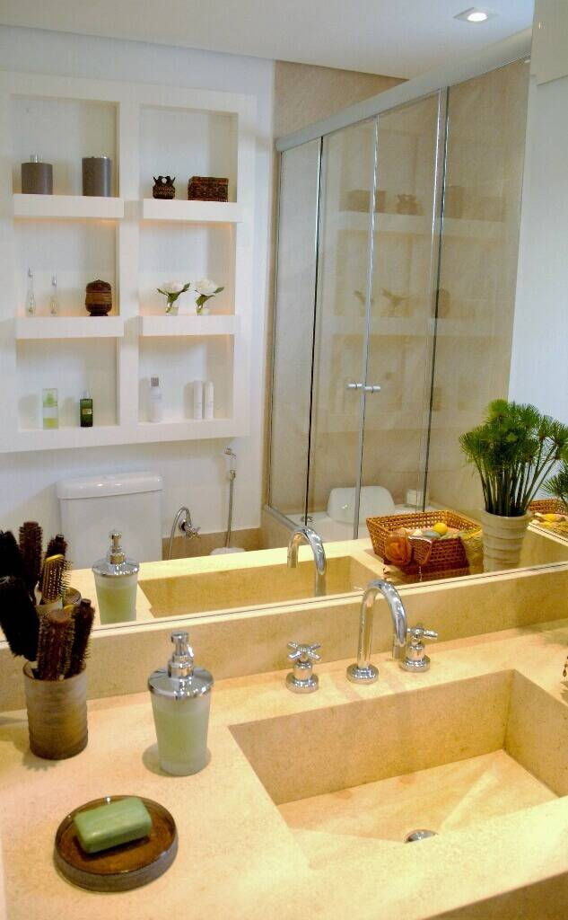 reforma de banheiro com Cuba esculpida