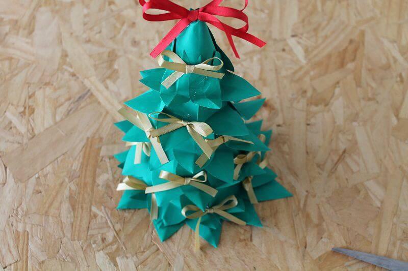 Árvore de Natal de Garrafa Pet passo 10