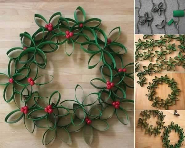 DIY- Decoração de Natal guirlanda de papelão
