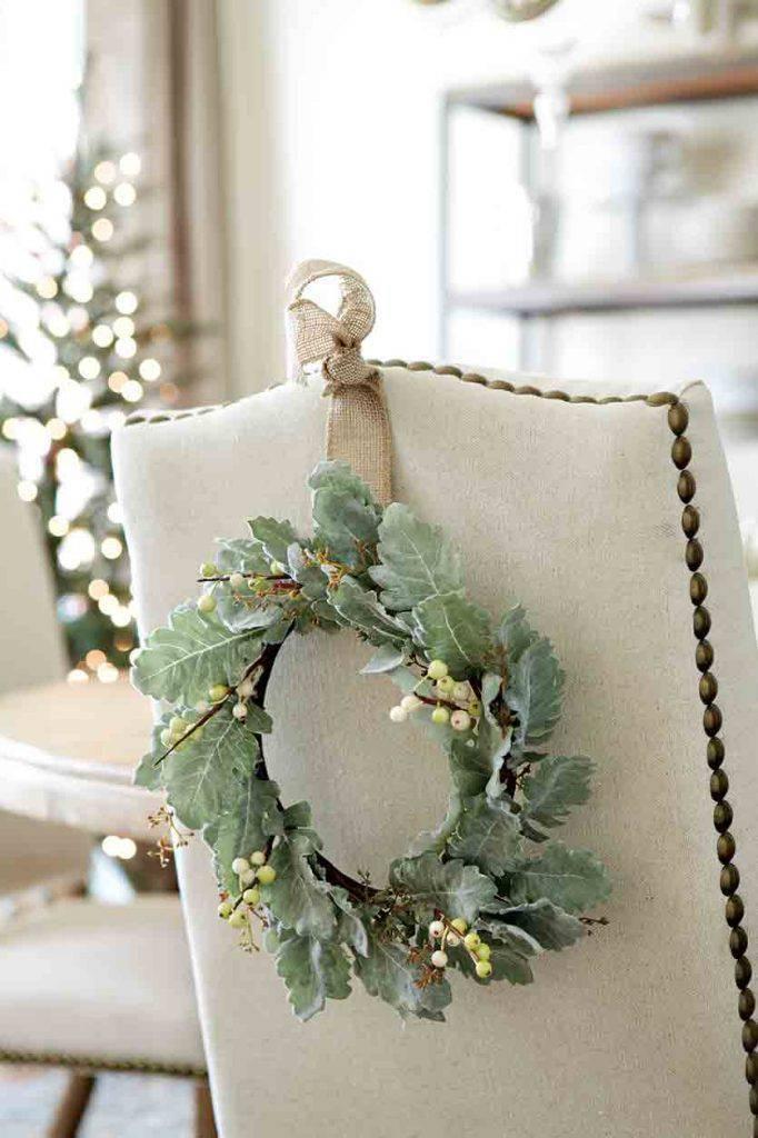 Decoração de Natal cadeiras decoradas