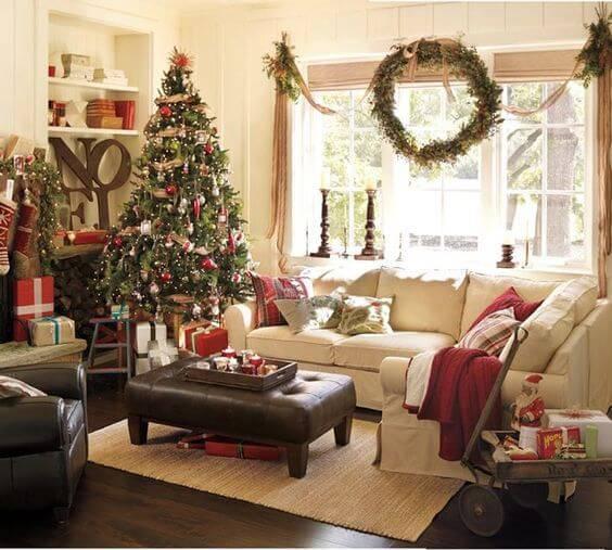 Decoração de Natal sala decorada