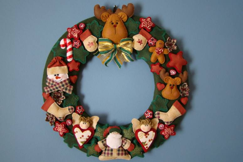 Guirlanda de Natal artesanal feltro