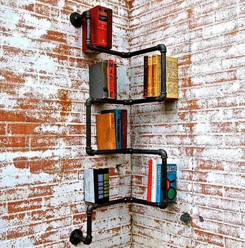 estante diferente para cantinho da leitura Foto Homebnc