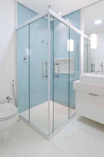 Pastilhas de Vidro Dicas, Exemplos e Como Colocar -> Box De Banheiro Com Pastilha De Vidro