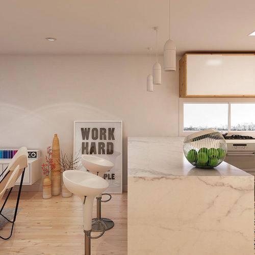 Balcão de cozinha feito com mármore