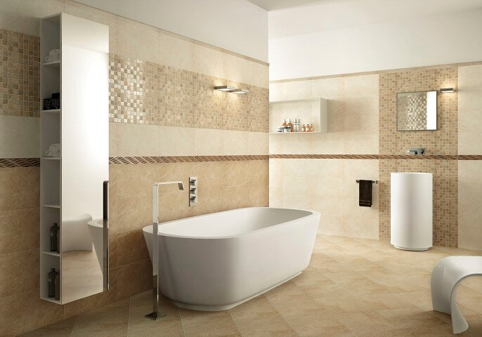 Cerâmica para banheiro com pastilhas