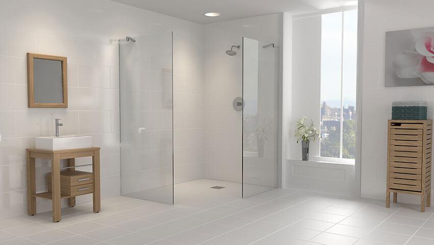 Cerâmica para banheiro igual na parede e no chão