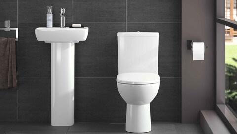 Cerâmica para banheiro igual no chão e no banheiro