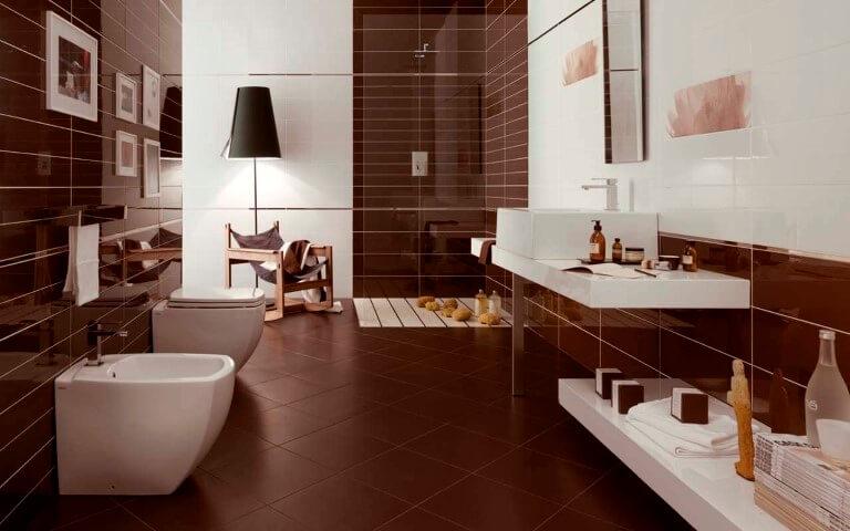 Cerâmica para banheiro marrom