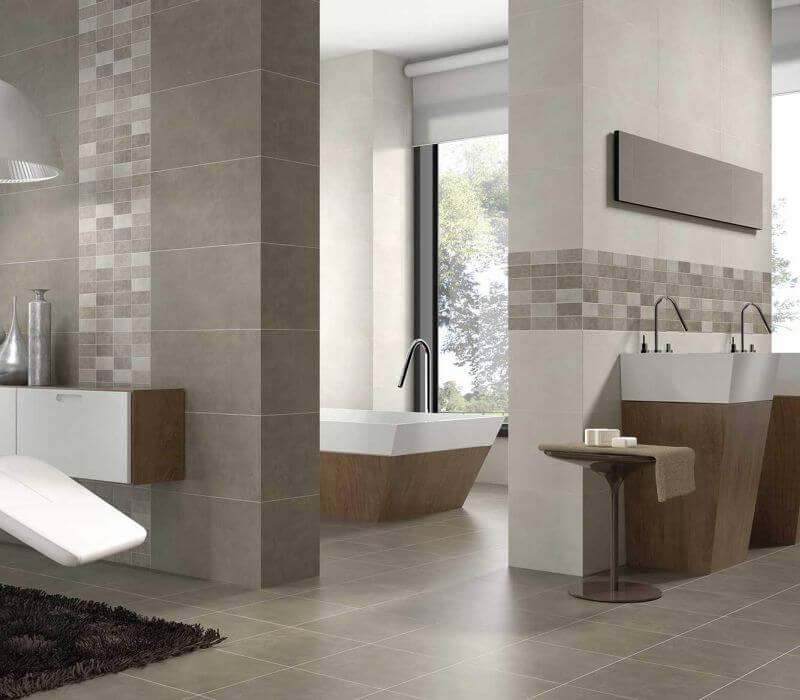 Cerâmica para banheiro no chão