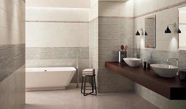 Cerâmica para banheiro rosa claro