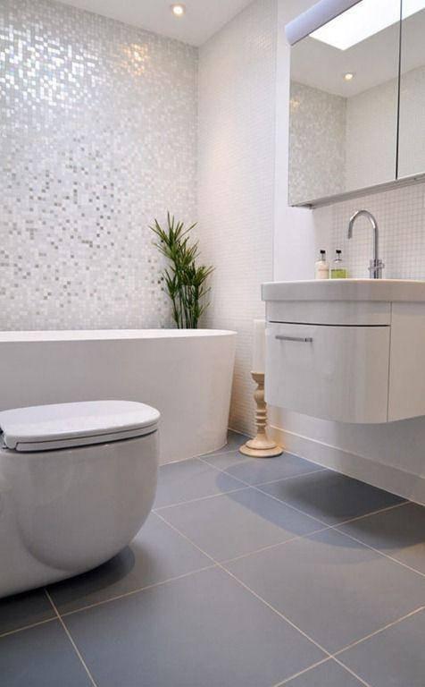 Revestimento para banheiro piso ceramico moderno cinza