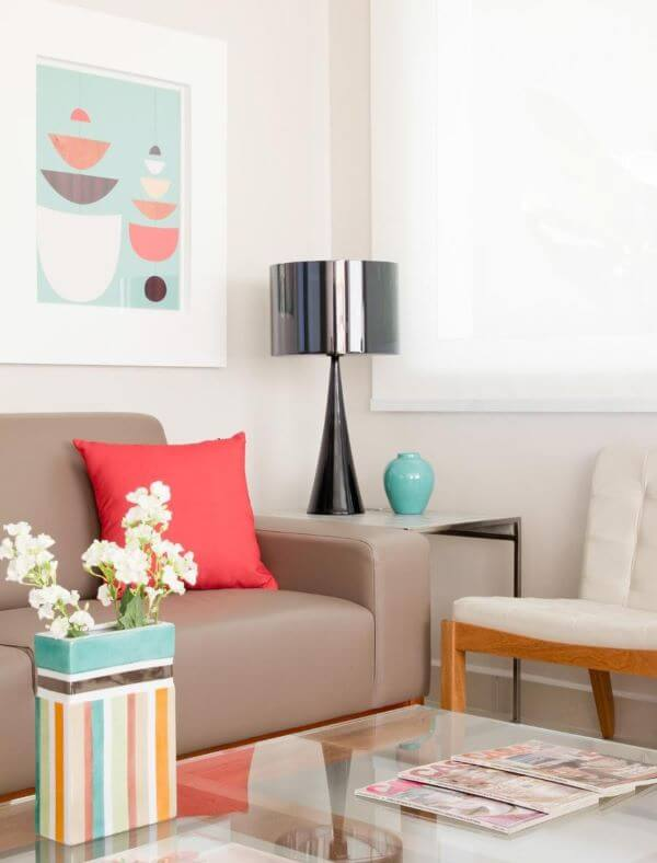 Abajur para sala de estar moderna