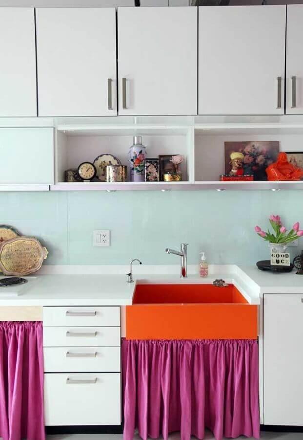 cores quentes para decoração de cozinha simples Foto Houzz