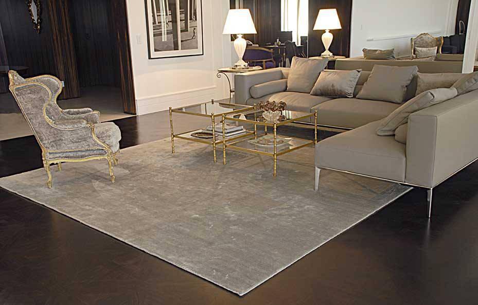 tapete branco retângulo sala centro móveis brancos estilo clássico