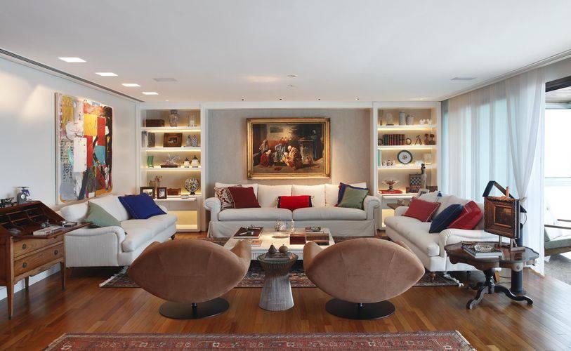 3145-sala de estar grande com piso escala arquitetura