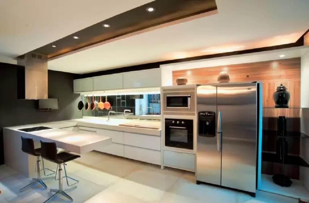Balcão de cozinha com formato em l