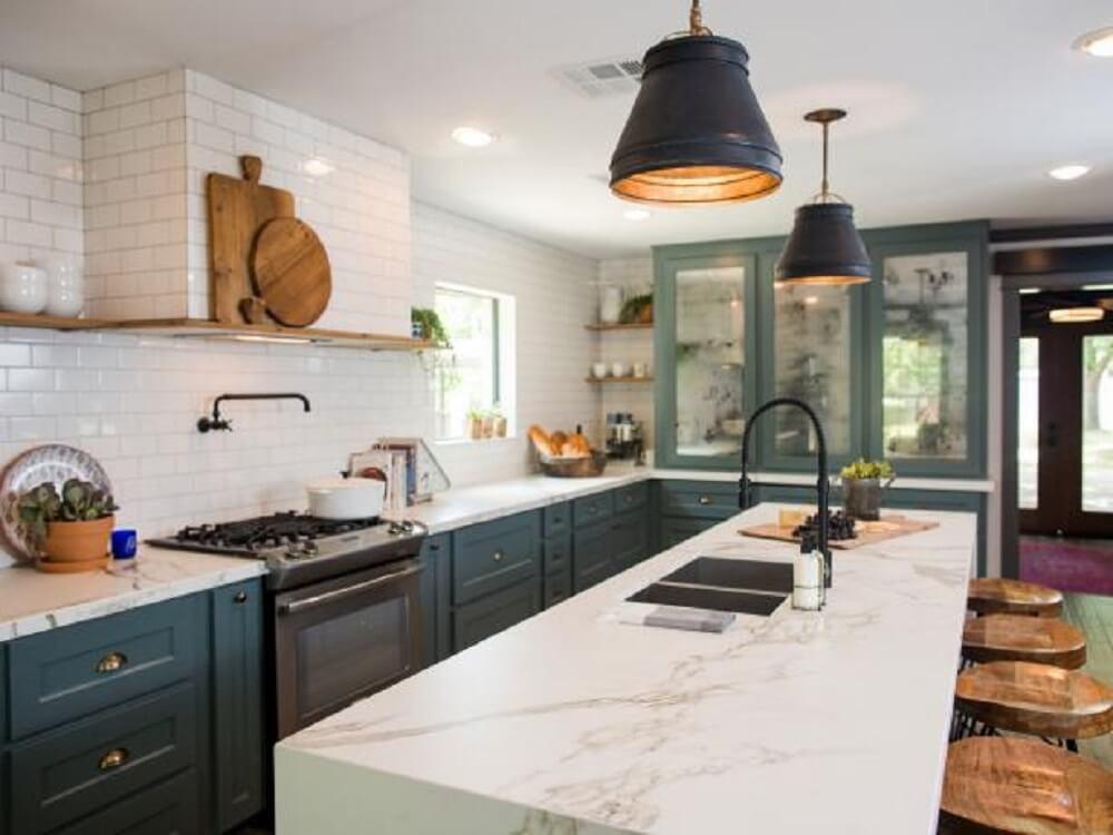 Balcão de cozinha em mármore