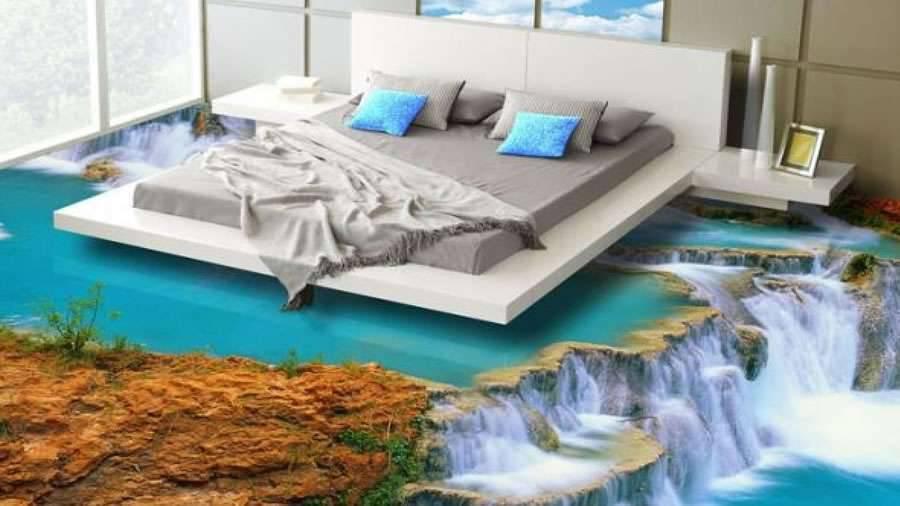 Piso de Porcelanato Liquido Epoxi ou 3D cachoeira