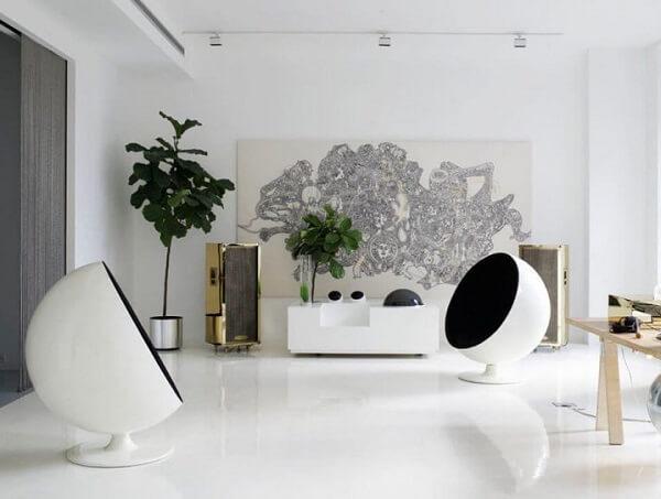 Porcelanato líquido 3 na sala branca