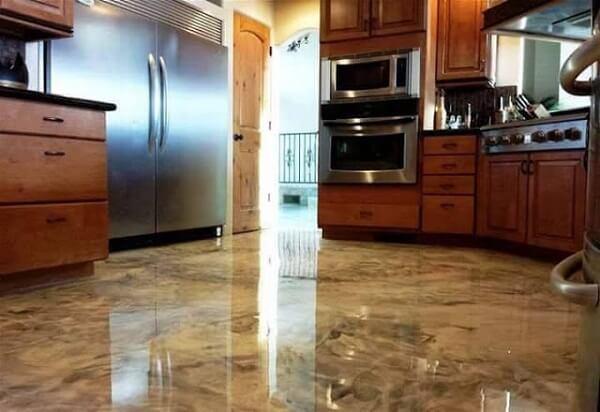 Porcelanato líquido 3d na cozinha