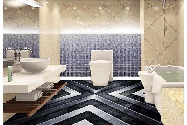 Porcelanato líquido 3d para banheiro