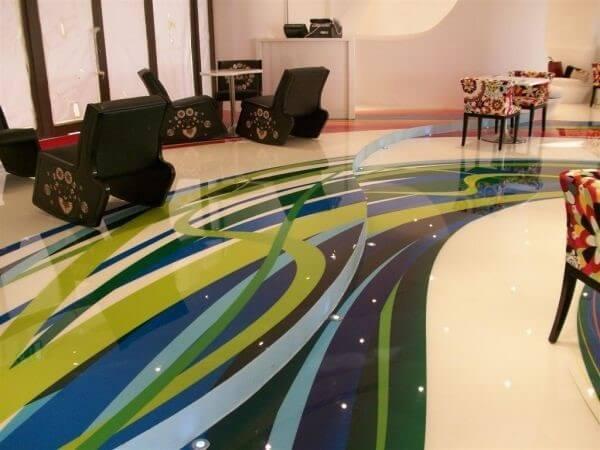 Porcelanato líquido 3d para sala