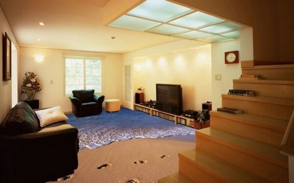Porcelanato líquido 3d para sala de estar