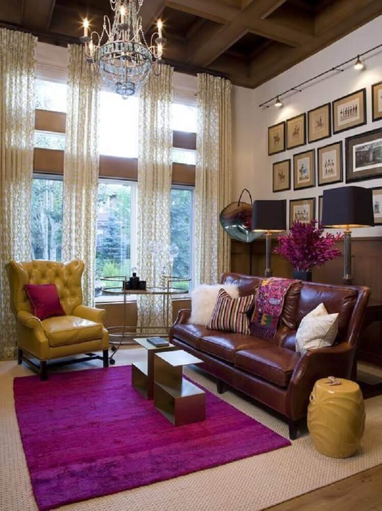 decoração de sala com guarden seat