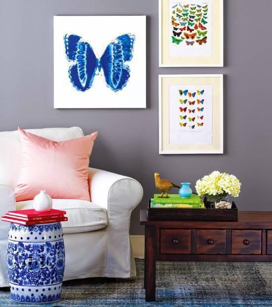 garden seat branco e azul