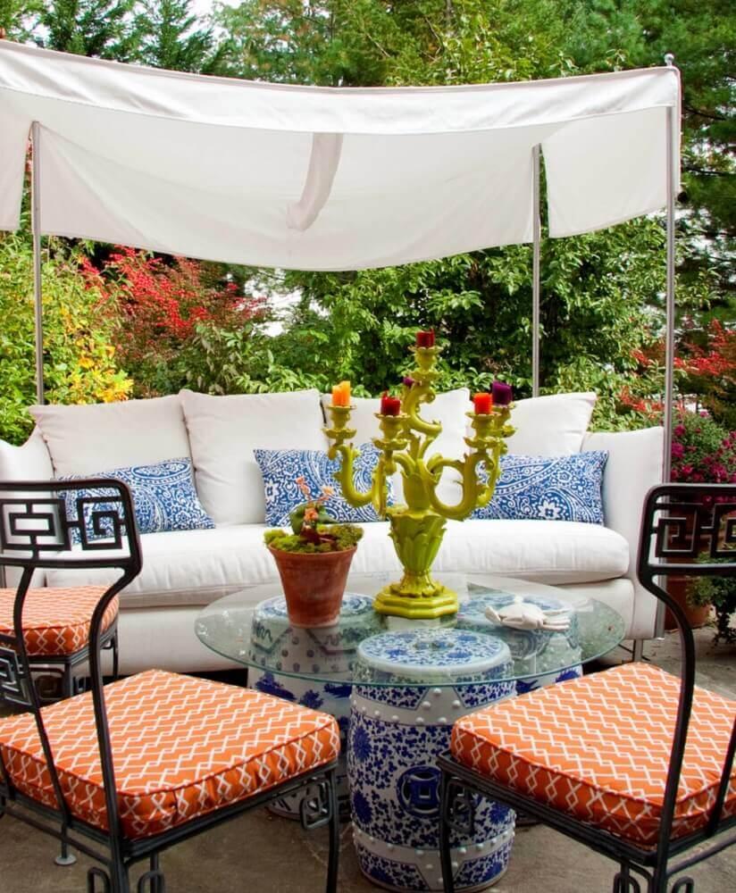 garden seat como mesa de centro