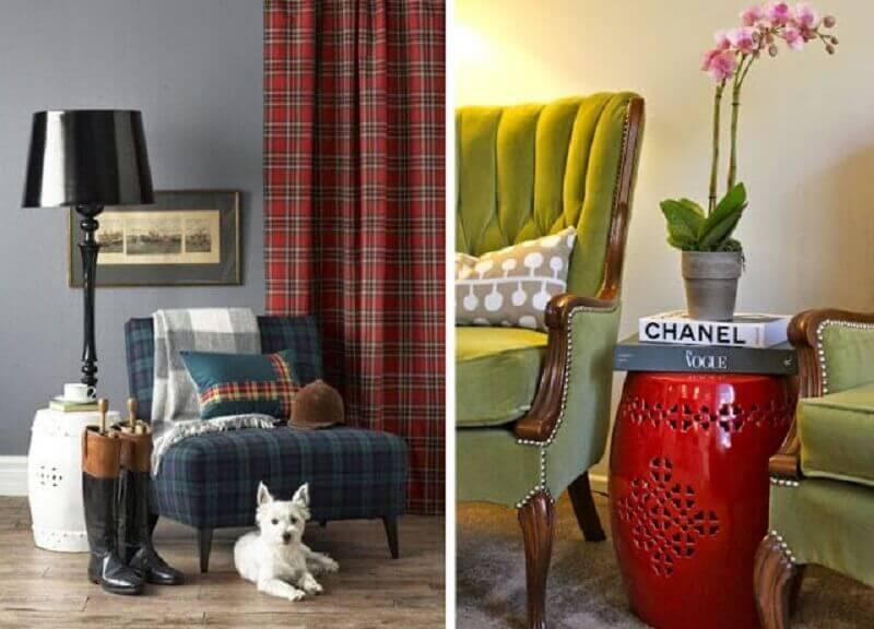 modelos diferentes de garden seat para sala Foto Chique e Simples